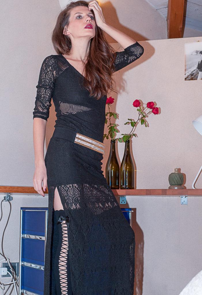 MY OUTFIT  Ținută de toamnă: Rochie lungă neagră